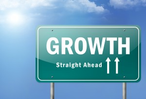"""Highway Sign """"Growth - Straight Ahead"""""""